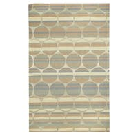 Kevin O'Brien Bucine Taupe Hang-tufted Rectangle Rug - 5' x 8'