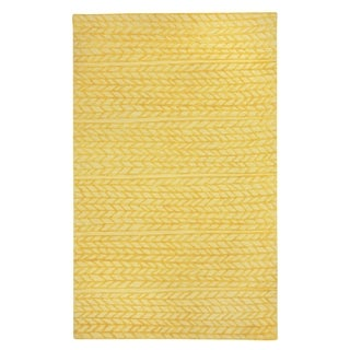 Genevieve Gorder Spear Yellow Rectangular Hand-tufted Rug (5' x 8') - 5' x 8'