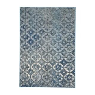 Kevin O'Brien Cavalcade-Constantinople Azure Olefin Woven Rug (5'3 x 7'6)