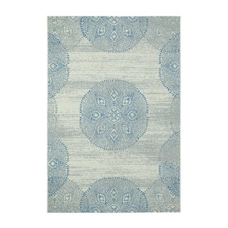Genevieve Gorder Elsinore Mandala Blueberry Rectangular Machine Woven Rug  (5u00273 X