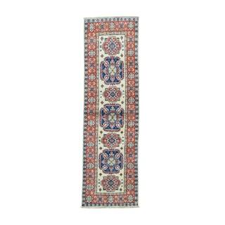 Hand-knotted Tribal Design Kazak Oriental Runner Rug (2' x 6'6)