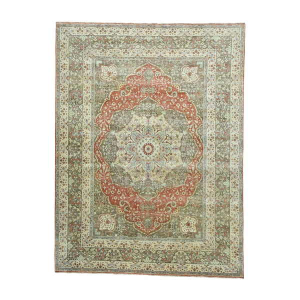 Shop Haji Jalili Tabriz Recreation Red Beige Ivory Blue Green Gold