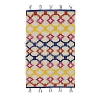 Genevieve Gorder Hyland Red/Yellow Rectangular Flat Woven Rug (7' x 9') - 7' x 9'