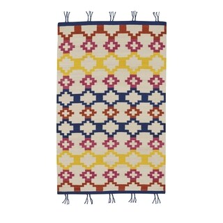 Genevieve Gorder Hyland Red/Yellow Rectangular Flat Woven Rug - 7' x 9'