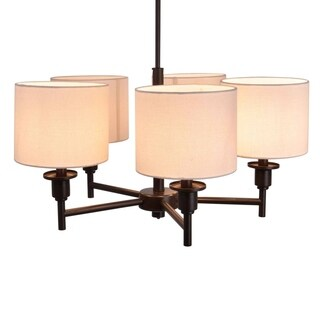 Catalina 19742-000 Bronze Finish 5-light Shaded Chandelier