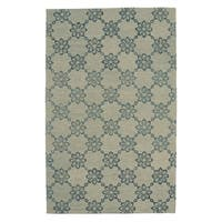 Kevin O'Brien Link SIlver Rectangular Hand-tufted Rug - 7' x 9'