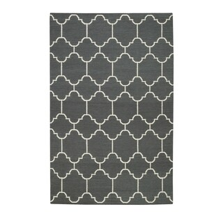 Genevieve Gorder Serpentine Smoke Rectangle Flat-woven Rugs - 7' x 9'