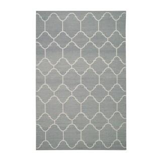 Genevieve Gorder Serpentine Steel Grey Flat-woven Rectangle Rug (7' x 9')