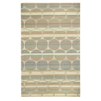 Kevin O'Brien Bucine Taupe Hand-tufted Rectangle Rug (7' x 9') - 7' x 9'