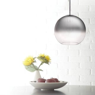 Catalina 11-inch Chrome Ombre Glass Orb Pendant