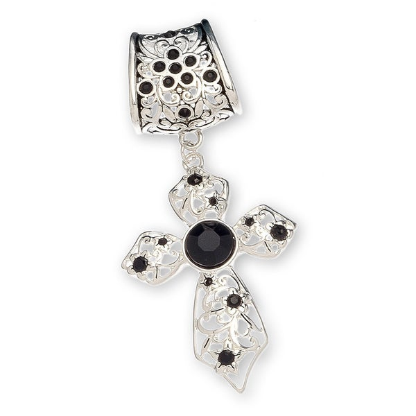 Shop silver black crystals cross scarf pendant jewelry free silver black crystals cross scarf pendant jewelry aloadofball Choice Image