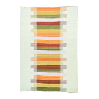 1800getarug Durie Kilim Red/Orange/Yellow/Pink/Olive Green/Ivory Hand-woven Flatweave Reversible Oriental Wool Rug (10' x 14'7)