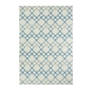 Kevin O'Brien Elsinore-Santorini Blueberry Rectangle Machine-woven Rug (7'10 x 11')