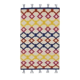 Genevieve Gorder Red Wool Rectangular Flat-woven Hyland Area Rug (8' x 11')