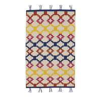 Genevieve Gorder Red Wool Rectangular Flat-woven Hyland Area Rug (8' x 11') - 8' x 11'