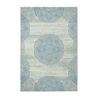 Genevieve Gorder Elsinore-Mandala Blueberry Rectangular Machine-woven Rug (7'10 x 11')