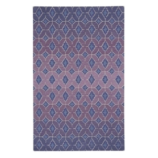 Kevin O'Brien Rossio Purple Hand-tufted Rectangle Wool Area Rug (8' x 11')