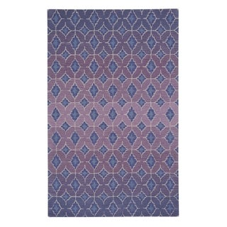 Kevin O'Brien Rossio Purple Hand-tufted Rectangle Wool Area Rug (8' x 11') - 8' x 11'
