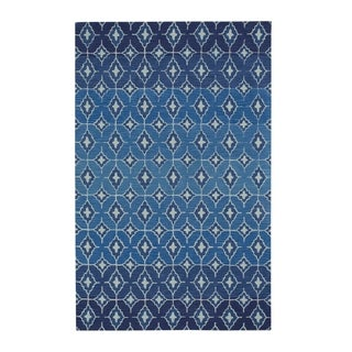 Kevin O'Brien Rossio Navy Hand-tufted Rectangle Rug (8' x 11')