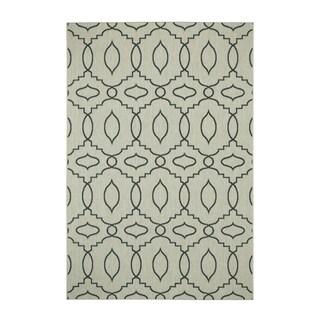 Genevieve Gorder Elsinore-Moor Blue/Grey Olefin Machine-woven Indoor/Outdoor Rug (7'10 x 11')