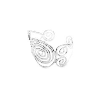 Sterling Silver Overlay Swirl Design Sterling Silver Cuff Bracelet