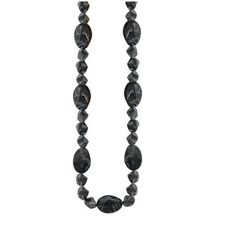 Long Facet Marbled Bead Endless Necklace