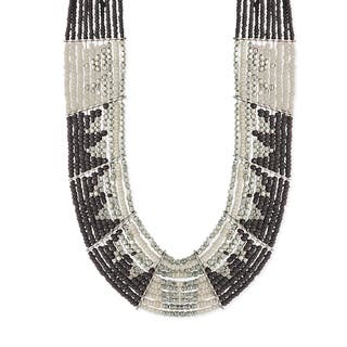 Glass Multibeaded Limited-edition Bib Necklace (Option: Black)|https://ak1.ostkcdn.com/images/products/12612547/P19407062.jpg?impolicy=medium