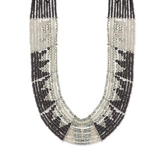 Handmade Glass Multibeaded Limited-edition Bib Necklace (Indonesia)