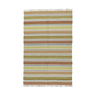 Durie Kilim Striped Wool Hand-woven Flatweave Rug (4' x 6')
