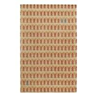 Genevieve Gorder Red/Beige Wool/Viscose Rectangular Hand-tufted Twigs Area Rug - 8' x 10'