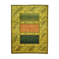 Kazak Overdyed Gold Wool Hand-knotted Oriental Area Rug (7'5 x 9'8)