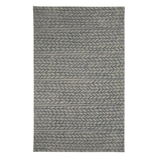 Genevieve Gorder Spear Grey Wool and Viscose Hand-tufted Rug - 8' x 10'