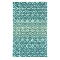 Kevin O'Brien Rossio Azure Hand-tufted Rectangular Rug - 8' x 11'