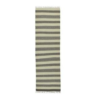 Reversible Striped Kilim Flatweave Hand-woven Runner Rug (2'5 x 8'2)