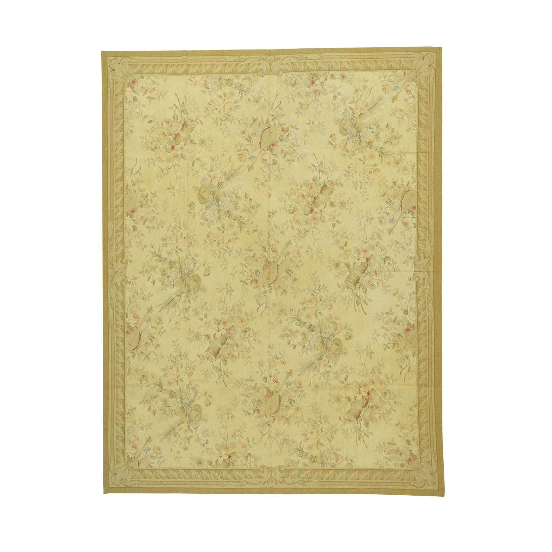 Shop Aubusson Tapestry Hand-woven Wool Beige/Red Musical ...