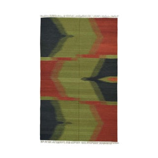 Durie Kilim Colorful Flatweave Reversible Hand-woven Rug (5'1 x 8'2)