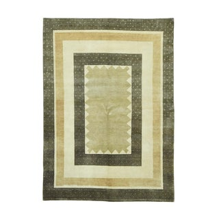 Geometric Design Gabbeh Hand-knotted Oriental Rug (5'8 x 8)
