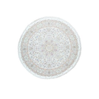 Hand-Knotted Persian Tabriz Round Oriental Rug (10'1 x10'1)