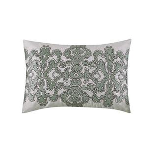 N Natori Tboli Multi Cotton Oblong Throw Pillow with Embroidery