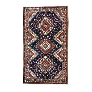 Persian Bakhtiari Hand-Knotted Persian Oriental Rug (5-feet 9-inches x 9-feet 10-inches