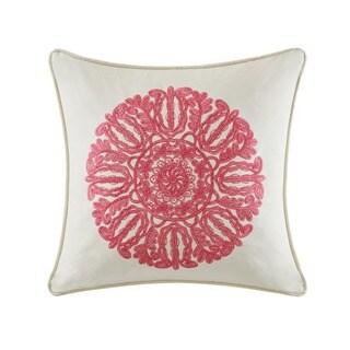 Echo Design Florentina Multi Cotton Faux Linen Square Throw Pillow