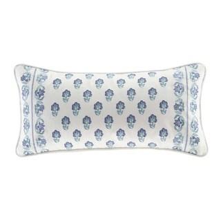 Echo Design Woodstock Light Grey Cotton Faux Linen Oblong Throw Pillow