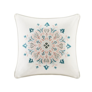 Echo Design Sterling Ivory Cotton Square Throw Pillow