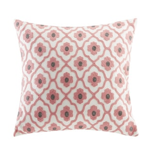Echo Design Sterling Beige Cotton Square Throw Pillow