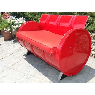 Very Red Indoor/Outdoor Loveseat