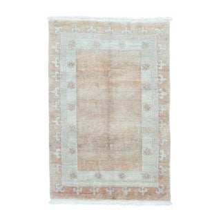 Modern Nepali Hand-knotted Soft Wool Oriental Rug (4'6 x 6'8)
