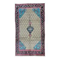 Persian Hamadan Camel Hair Hand-Knotted Rug (5'1 x8'8)
