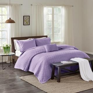 Echo Design Montauk Lavender Cotton Quilt Mini Set