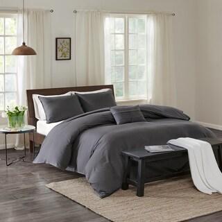 Echo Design Montauk Grey Cotton Duvet Cover Mini Set