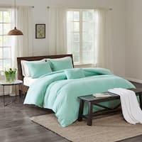 Echo Design™ Montauk Aqua Cotton Duvet Cover Mini Set
